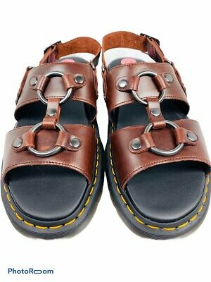 DR MARTENS Womens//Unisex GRYPHON White Leather Sandals Air Wair UK 7 rrp £95