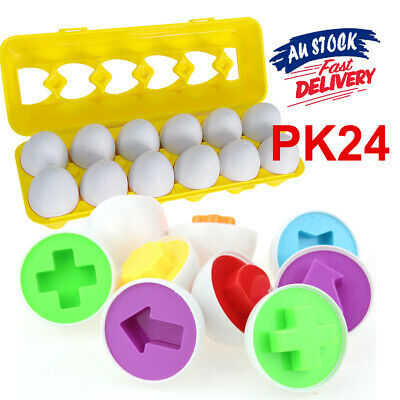 Geometric Mixed Shape Educational Toys Pairing Eggs Puzzle Shape Wise