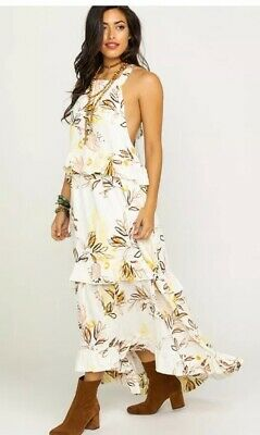 Anthropologie Free People Anita Leafy Printed Tiered Maxi Dress Nwt $128