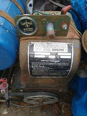Wisconsin Air Cooled Engine- Model AENLD, Spec.209018, oil pump and oil bath flt