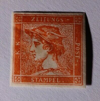 Italian states lombardy venetia1856 30c rosso vermiglio (€325000). Sold 'as is'