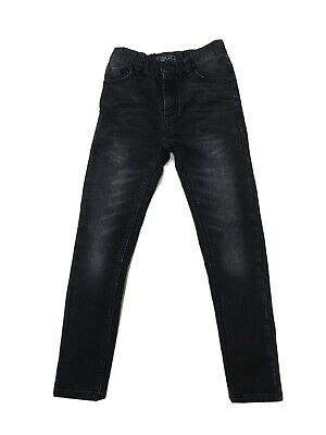Boys Next Black Skinny Jeans With Adjustable Waist Age 8 Yrs Excellent Condition
