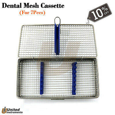 Dental Mesh Cassette For Holding Instruments Sterilization Auto Clave Tray Rack