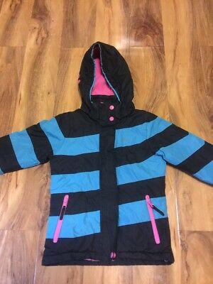 Kids Trespass Girls Jacket/Coat Aged 3/4 Years Old (98-104cm) With Detachable Ho