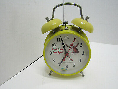 OLD Curious George Wind Up Alarm Clock Schylling MONKEY
