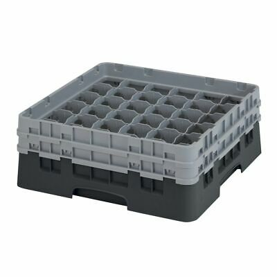 Cambro 36S434110 Camrack Black 36 Compartment Rack with 2 Extenders