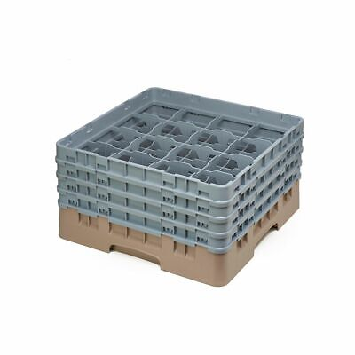 Cambro 16S800184 Camrack Beige 16 Compartment Full Size Glass Rack