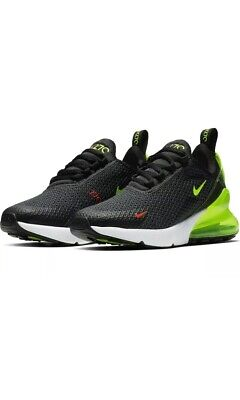 YOUTH BOYS NIKE Air Max 2017 GS Trainers Black White 851622