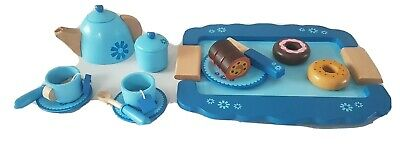 Child's Wooden Afternoon Tea Set Pretend Play 20 pieces