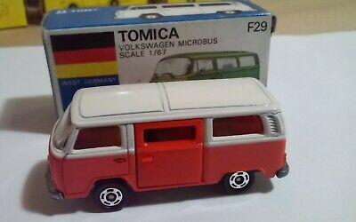 Miniature Car Year 1985 1:67 Volkswagen Microbus White - Made in Japan Tomic