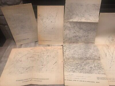 7 US Geological Survey Maps Topography State Of Maine Quadrangle 1955/1967/1932