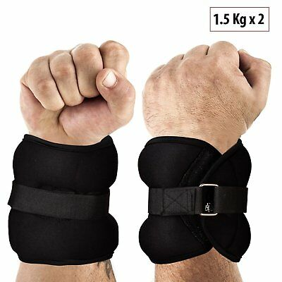 Fitsy Adjustable Wrist And Ankle Weights 2 X 1.5 Kg UK