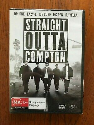 Straight Outta Compton DVD Region 4 New & Sealed