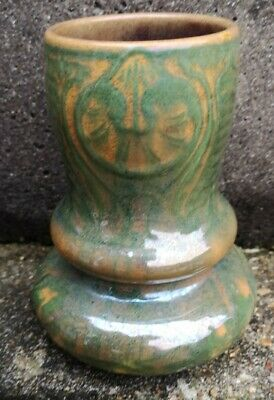 Craven Dunnill Jackfield Arts And Crafts Pottery Vase Art Nouveau