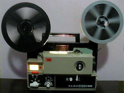 Elmo ST-180 M 2-Track Super 8 SOUND Movie Projector in Box ~Serviced~