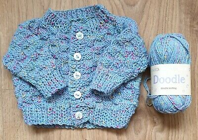 BRAND NEW - Hand Knitted Baby Cardigan To Fit Newborn to Age 3 Months Approx