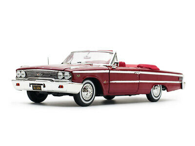 Ford 1963 Galaxie 500XL Open Convertible in Metallic Red by Sunstar 1.18 scale