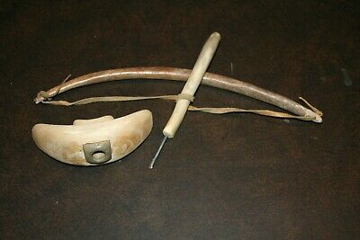 Eskimo Inuit Vintage Engraving Bow Drill Set
