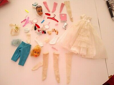 VINTAGE BARBIE 1969-72 TURQUOISE TENNIS SHOES TO 3 MATTEL OUTFITS LISTED-JAPAN