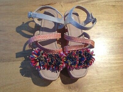 Bnwt Marks And Spencer Girls Colourful Sandals, Size 5, Eur 38,  Rrp £25