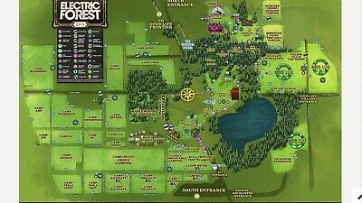 2 Electric Forest Decade one 2020 GA Wristbands Tickets