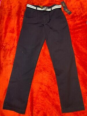 BNWT Ralph Lauren Skinny Fit Boys Navy Chino Trouser Size 18