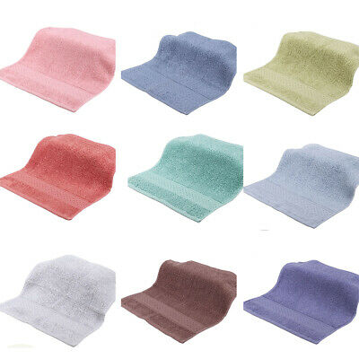 100/% Cotton Face Towels Cloth Flannels Cloths Wash Gift Packed 12Colors 33X33cm