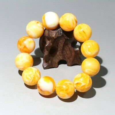 Collectable Chinese Handwork Amber Carve Noble Delicate Beautiful Hand Catenary