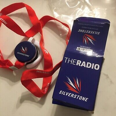 Official Merchandise 'Silverstone' Ear Piece Radio With Lanyard 'Working