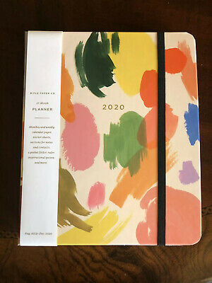 Rifle Paper Co 2020 Palette 17 Month Planner Monthly & Weekly Organizer NEW!