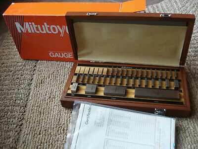 Mitutoyo 516-423 36 Pc. Square Gage Block set Grade 3 new in box