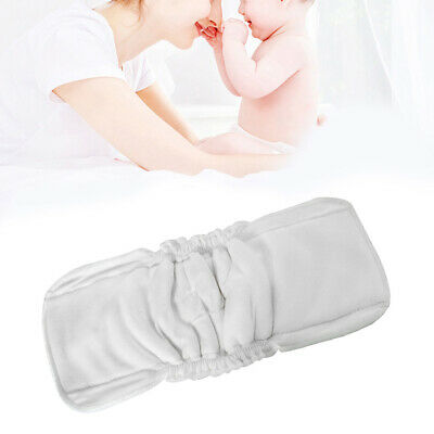 Reusable Toddler Newborn Baby Cloth Diaper Nappy Liners Inserts 5 Layers White