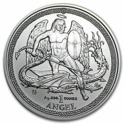 2014 1 oz Isle of Man Silver Angel (BU)