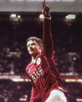 """GREAT NEW HAND SIGNED 10"""" x 8"""" PHOTO - OLE GUNNAR SOLSKJAER - MANCHESTER UNITED"""
