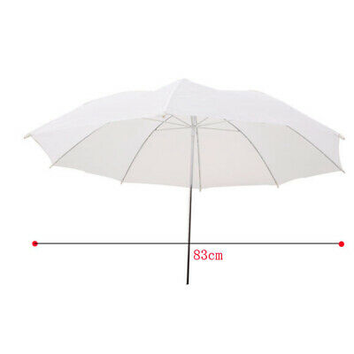 33in 83cm Soft Umbrella Translucent White for All Studio Flash N5K9