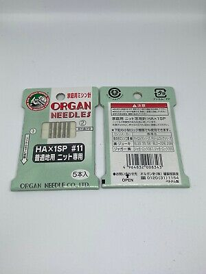 *NEW* ORGAN NEEDLES HAX1SP For Knitted Fabrics Size 75/11- 5 Pcs