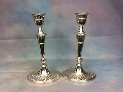 Vintage Pair Of Hawksworth Eyre & Co Silver Plated Candlesticks Free Uk Delivery