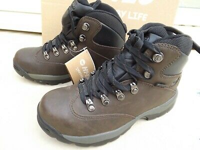 New Hi Tech Ottawa Walking & Hiking Boots,Size 4,Dark Brown Leather,Lace-Up