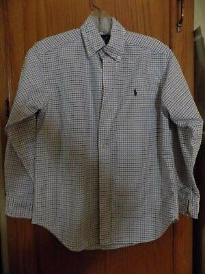 M NWT Polo Ralph Lauren BOYS PLAIDS SHIRT #38 12//14