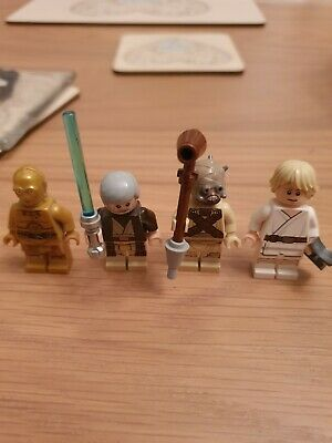 LEGO Star Wars Luke Skywalker Obi-Wan Kenobi C-3PO Minifigures from Set 75173