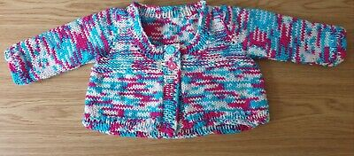 Hand Knitted Baby Cardigan Age 0 - 3 Months BRAND NEW