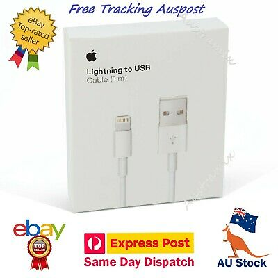100% Genuine Apple 1 M USB To Lightning Charger Cable iPhone 8 7 6 5 > 11 ProMax