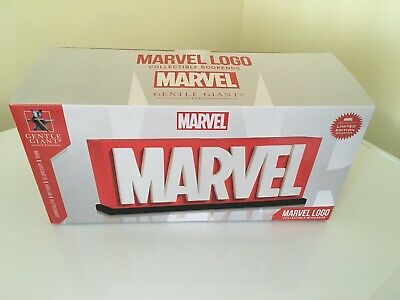 New Limited Edition Certified Gentle Giant Marvel Logo Bookends