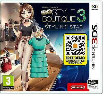 New Style Boutique 3 Styling Star (for Nintendo 3DS 2DS PAL) UK (*Cut on side)