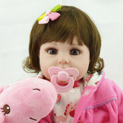 22'' Alive Reborn Baby Doll Toy Lifelike Soft Vinyl Newborn Nursery Kids M0H4