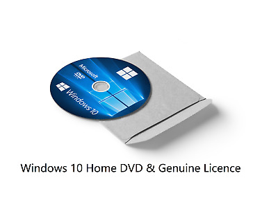 Windows 10 HOME License & Bootable 64-bit Installation CD DISC DVD