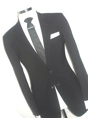 Mens  Luxury Gieves & Hawkes Black  Made-London Tailor The Suit 38Reg W32 L33