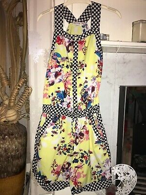 Girls River Island Yellow Floral Playsuit age 12
