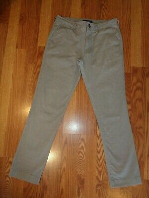 Old Navy Ultimate Light Weight Slim Chino Pants Gray Cotton 36W X 29L Perfect