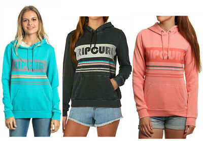 Rip Curl Womens Women's Active Stripe Fleece Sweatshirt Hoodie Jumper Top XXS XS